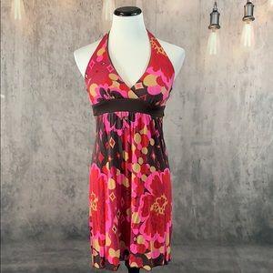 Speechless Floral Halter Dress